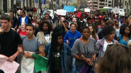 Philadelphia student march, May 2013.