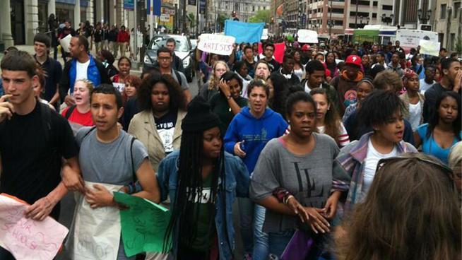 Philadelphia student march, May 2013.