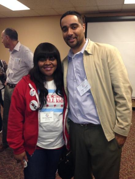 Chicago parent Shoniece Reynolds and Seattle teacher Jesse Hogopian