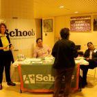 Co-sponsor A+ Schools handing out literature