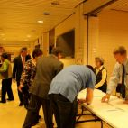 Registration table, staffed by volunteer PPS teachers