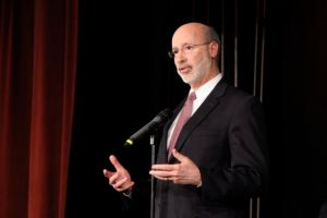 Tom Wolf speaking at our Education Debate in April 2014.