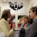 Katie McGinty talking to Irene Habermann and Sarah Regenspan with PIIN