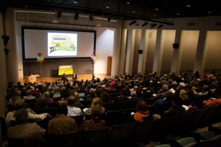Over 300 people were in McConomy Auditorium at Carnegie Mellon University for the event!