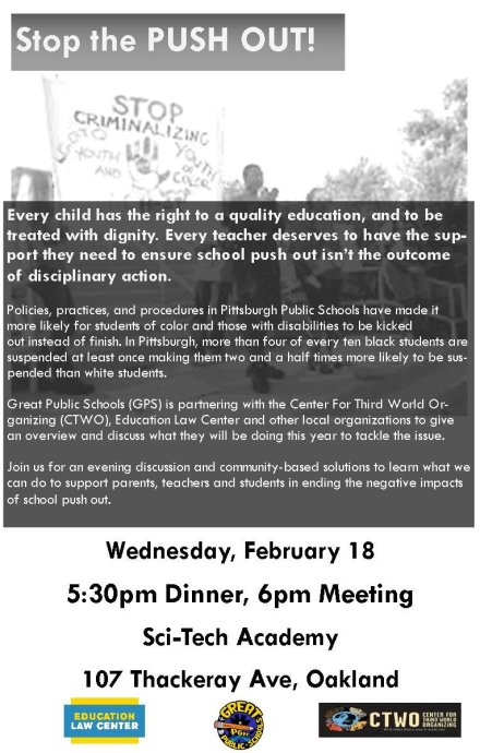 GPS Push Out Community Meeting